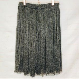 Discovery black and gold shimmer skirt